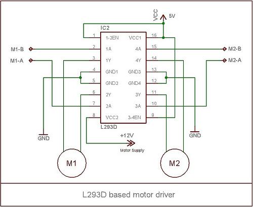 L293D Based Motor Driver