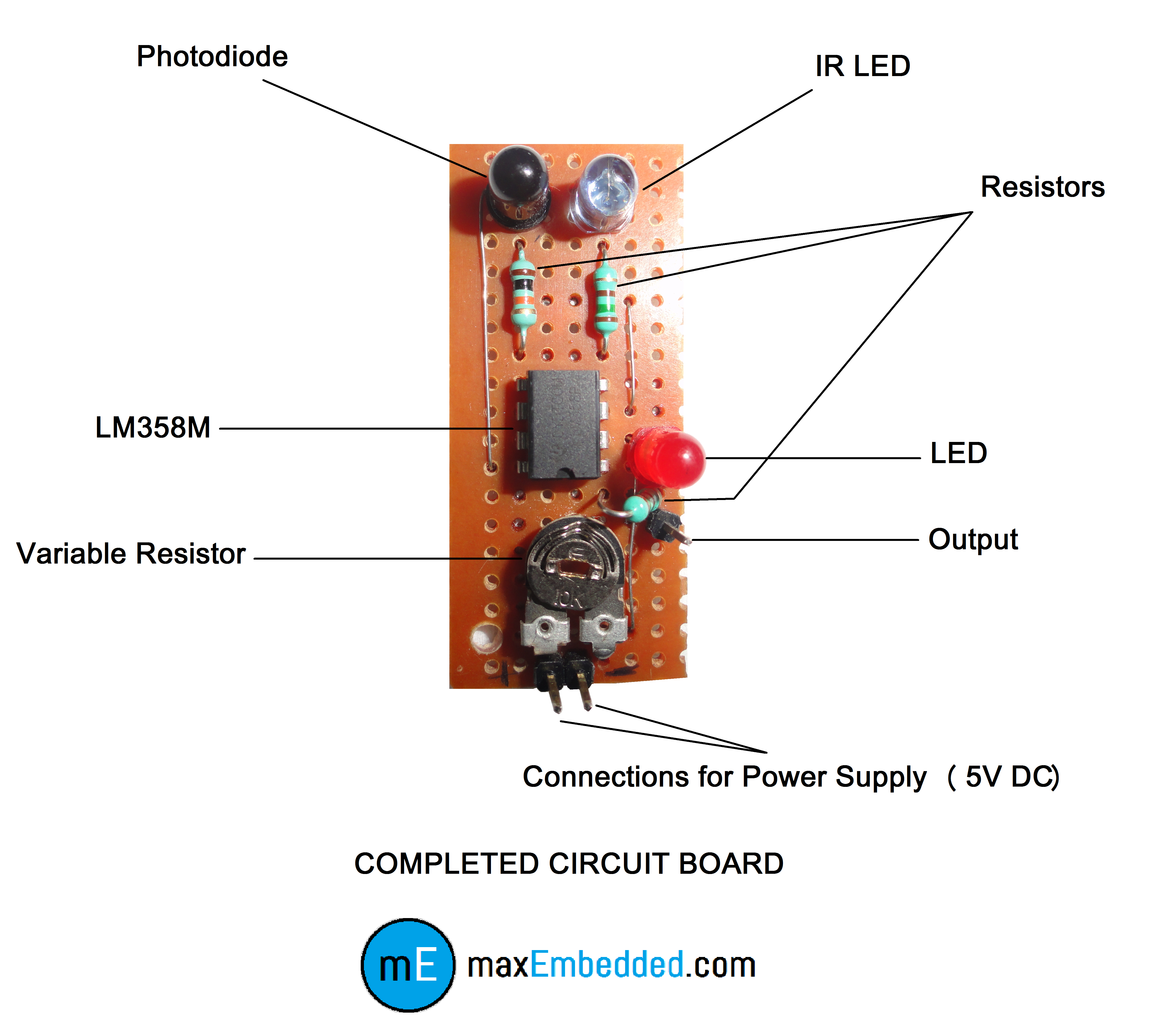 how to build an ir sensor maxembedded Outdoor Sensor Wiring Diagram