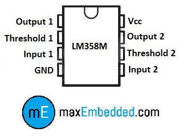 how to build an ir sensor maxembedded rh maxembedded wordpress com lm358 pin diagram datasheet lm358 comparator pin diagram