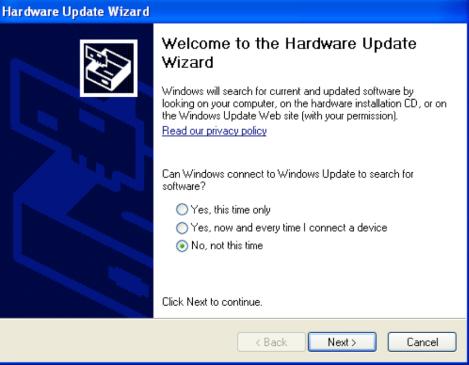 Hardware Update Wizard - WinXP